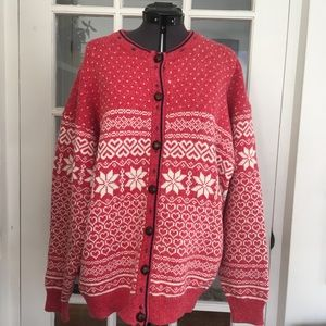 Vintage Northern Reflections Nordic Knit Cardigan